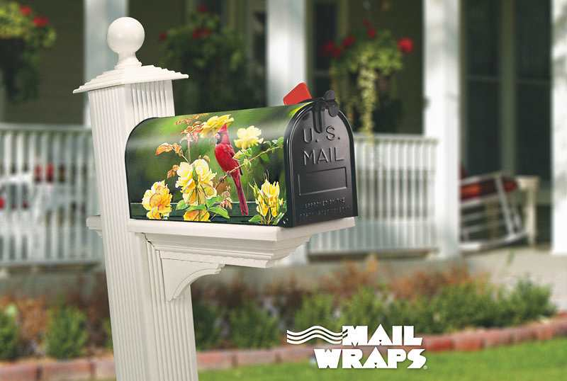 Mail Wraps&trade; Magnetic<br>Mailbox Covers on home yard designs, yard sign designs, magnet works yard signs, yard art designs, beautiful yard designs, magnetic yard designs, artistic yard designs, easter yard designs, christmas yard designs,